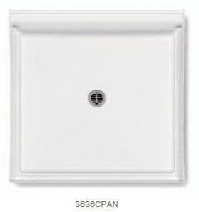 Aquatic Industries Everyday 36 x 36 in. Composite Shower Base in White A3636CPANWH