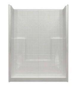 Hamilton Bathware 60 x 33 in. Shower in White HM6033SHNSTILEWH
