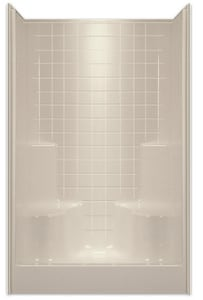 Aquarius Industries Luxury 48 x 48 in. Shower in White AG4834SHWH