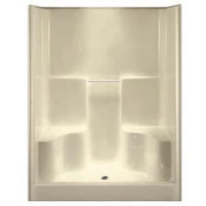 Aquarius Industries Luxury 60 x 36 in. Two Seat Shower in White AG6077SHCP3WH