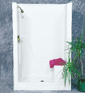 Bathcraft 36 x 48 in. Shower with Left Hand Seat in Biscuit B4801LBIS