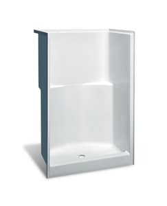 Aker Plastics 48 x 36-3/4 x 73-1/2 in. Alcove Shower Unit in White A141026000002000