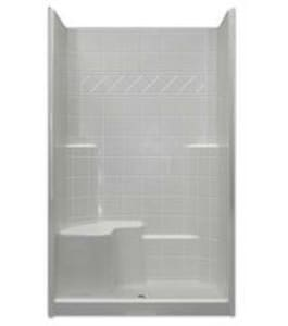 Hamilton Bathware Millennia 48 x 36 in. Shower with Left Hand Seat in White HM3648SHTILELH1S