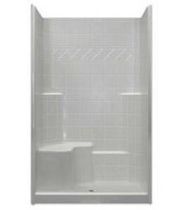 Hamilton Bathware Millennia 48 x 36 in. Shower with Right Hand Seat in White HM3648SHTILERH1S