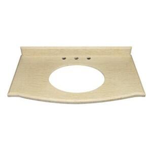 DECOLAV® Morgan 37 in. 3-Hole Rectangular Marble Countertop in Berlato D1675MBE