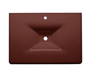 Kohler Iron/Impressions® 31-5/8 in. 1-Hole 1-Bowl Enameled Cast Iron Vanity Top Lavatory Sink in Ember K3049-1-RR