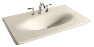 Kohler Iron/Impressions® 37-5/8 in. 3-Hole Widespread Vanity Top Bathroom Sink in Almond K3051-8-47