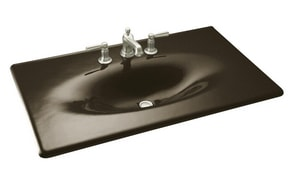 KOHLER Iron/Impressions® 22-1/4 in. Cast Iron Top & Basin in Black 'n Tan K3051-8-KA