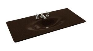 Kohler Iron/Impressions® 37-5/8 in. 3-Hole Widespread Vanity Top Bathroom Sink K3053-8
