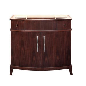 DECOLAV® Alexandra 36-1/2 in. Wood Vanity Cabinet with Curved Front Doors and Two Drawer D5257