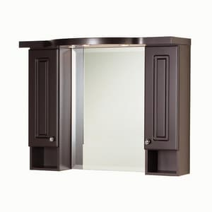 Magickwoods Eurostone 39 in. Porcelain Upper Vanity Hutch in Dark Chocolate MEU497