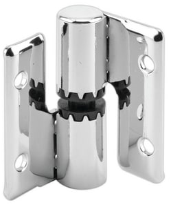 Primeline Products Zamak Brass Surface Mount Hinge Set Left Hand or Right Hand with Fastener in Polished Chrome P6566572