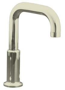 Kohler Purist® 11-3/8 x 2-1/2 in. Deckmount Non-Diverter Bath Spout in Vibrant Polished Nickel K14430-SN