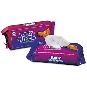 Unscented Baby Wipes Refill in White RRPBWUR80