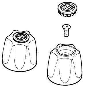 Pfister Tub and Shower Knob with Double Handle K991215