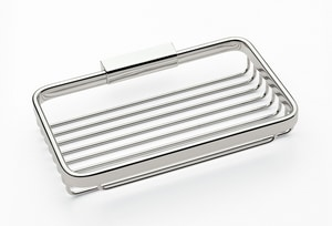 Ginger USA Hotelier™ 7-9/10 x 5-1/16 x 2-3/8 in. Long Basket in Polished Chrome G551DPC