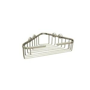 ROHL® Italian Country Bath 10-1/4 x 13-1/4 x 3-1/2 in. Corner Basket in Satin Nickel RBSK15STN