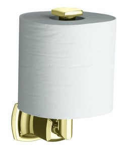 Kohler Margaux® Wall Mount Toilet Tissue Holder in Vibrant French Gold K16255-AF