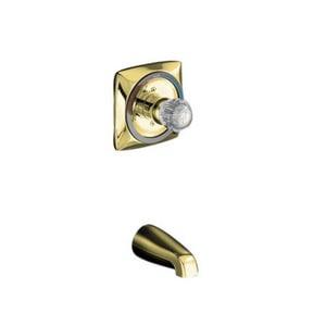 KOHLER Coralais® Wall Mount Non-Diverter Spout in Vibrant Polished Brass K15135-S-PB