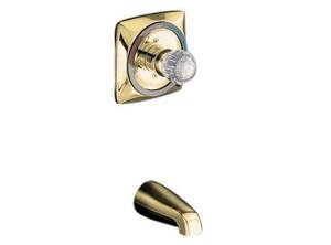 KOHLER Coralais® 4-7/8 in. Non-Diverter Wall Mount Spout in Vibrant Polished Brass K15135-PB
