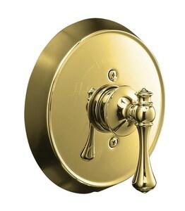 Kohler Revival® Pressure Balancing Valve Trim with Single Lever Handle in Vibrant Polished Brass KT16117-4A-PB