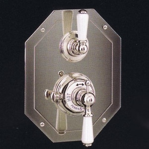 ROHL® Perrin & Rowe® Double Lever Handle Octagonal Concealed Thermostatic Trim with Volume Control in Polished Nickel RU5555LPNTO