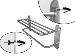 Wingits Master Rack Towel Bar Shelf in Polished Stainless Steel WWMRBS24