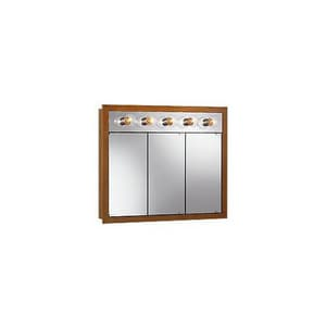 Jensen Granville 30 in. 5-Bulb Lighted Medicine Cabinet in White R755411