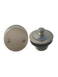 Braxton Harris 1-1/4 in. Lift and Turn Waste and Overflow Drain Converter Kit Satin Nickel BLTWT112114