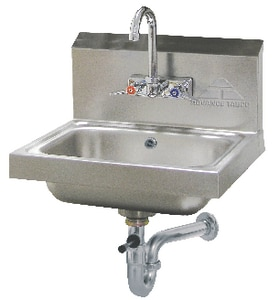 Advance Tabco Wall Mount 2-Hole Hand Sink with Faucet in Stainless Steel A7PS50