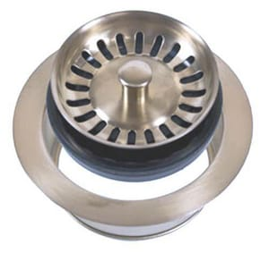 Mountain Plumbing Products Disposer Trim with Stopper Strainer Combination in Brushed Nickel MMT200EVBRN