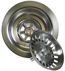 Mountain Plumbing Products Deluxe Stemball 3-1/2 in. Deluxe Basket Strainer with Center Pin in Polished Chrome MMT300CPB