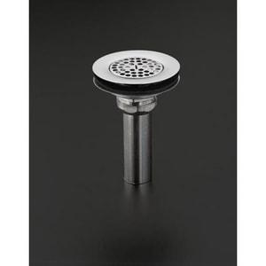 KOHLER Sink Strainer with Tailpiece in Vibrant Brushed Nickel K8807-BN