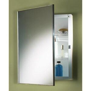 Jensen Styleline 24-1/8 in. Recessed Mount Medicine Cabinet in Basic White R490