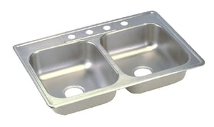 Dayton 3-Hole 2-Bowl Stainless Steel Kitchen Sink DD225193