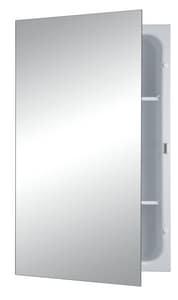 Jensen Focus 26 in. Recessed Mount Medicine Cabinet in Basic White R1438