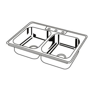 Dayton 3-Hole 2-Bowl Stainless Steel Kitchen Sink with J-Channel DDSEJ233223
