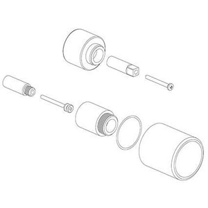 Fortis Thermostat Volume Control Extension Kit in Polished Chrome for Fortis Milano and Roma Diverter Valve FEX69078