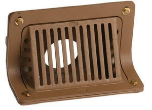 Jay R. Smith 3 in. 90 Degree Threaded Roof Drain with Flush Grate S1520T03