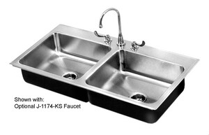 Just Manufacturing Stylist Group 3-Hole Drop-In Kitchen Sink in Stainless Steel JDL1829A3