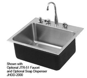 Just Manufacturing Stylist Group 19 x 22 in. 1 Hole Stainless Steel Single Bowl Drop-in Kitchen Sink in No. 4 JSLX2219A1