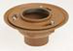 Jay R. Smith No-Hub Floor Drain with 5 in. Round Top Nickel Bronze and 1/2 in. Trap Seal Primer Tapping S2005YA05NBP050