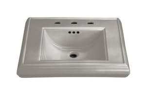 Kohler Memoirs® 3-Hole Bathroom Rectangular Lavatory Sink with 8 in. Faucet Centerset and Center Drain in Cashmere K2239-8-K4