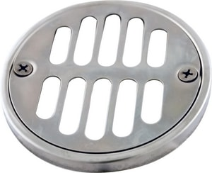 Monogram Brass® 3-5/8 in. OD Strainer with 2-7/8 in. Center to Center Screw Holes Stainless Steel MB132970