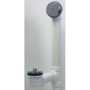 Watco 600 Series 16 in. Plastic Lift & Turn Drain in Brushed Nickel W600LTPVC