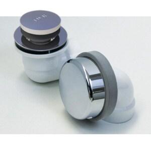 Watco Innovator® 900 Series 11-1/2 in. Plastic Toe-Tap Drain in Brushed Nickel W901FAPVCBN
