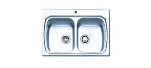 Oliveri/Tasman Sinkware 2-Bowl Kitchen Sink in Stainless Steel O8634