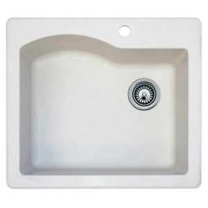 Swan Corporation Single Bowl Quartz Kitchen Sink  Nero SQZ02522SB