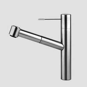 KWC Faucets Ono 1-Hole Swivel Spout Pull-Out Kitchen Faucet with Spray in Stainless Steel K10151033700