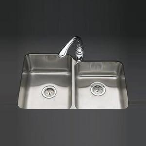 Kohler Undertone® 2-Bowl Large/Medium Undermount Kitchen Sink